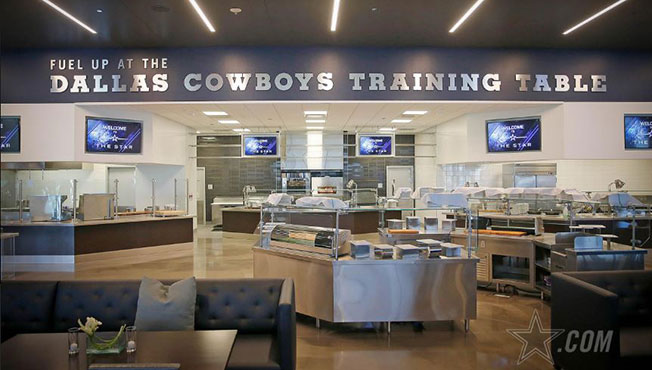 ThreeADays Dallas Cowboys And Dairy MAX Team Up On Nutrition - Training table restaurant