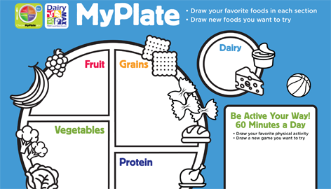 photo relating to My Plate Printable Placemat named Dairy MAX - Your Area Dairy Council