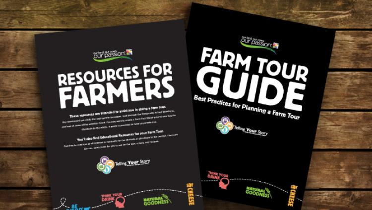 cover of the farm tour guide from dairy max