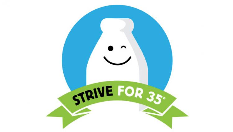 strive for 35 logo