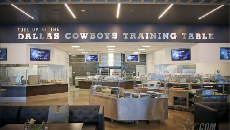 photo of the training table at The Star