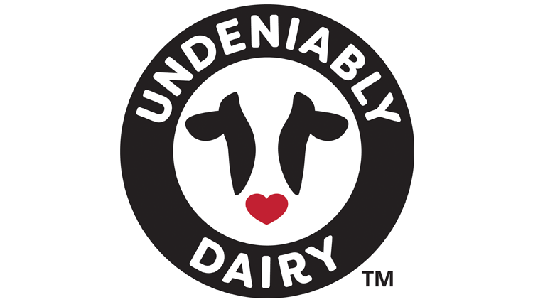 the logo for Undeniably Dairy